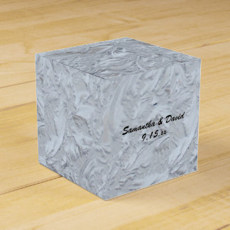 Boda personalizado vidrio texturizado cajas para detalles de boda