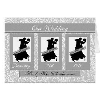 Boda Placecards/favores con la historia del par Tarjeta De Felicitación