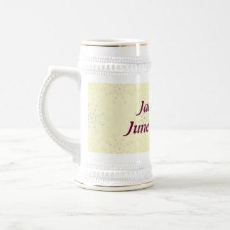 Boda poner crema de Silktones Jarra De Cerveza