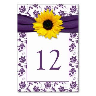 Boda púrpura amarillo de la cinta del girasol del