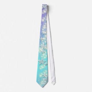 Boda púrpura azul de las estrellas de mar de la corbatas personalizadas