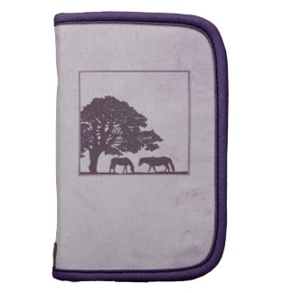 Boda púrpura de la granja del caballo del vintage planificador