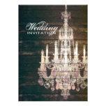 boda púrpura de la lámpara del barnwood del vintag comunicados personalizados