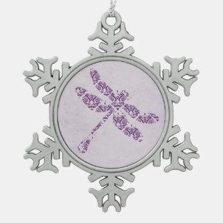 Boda púrpura de la libélula del damasco adorno
