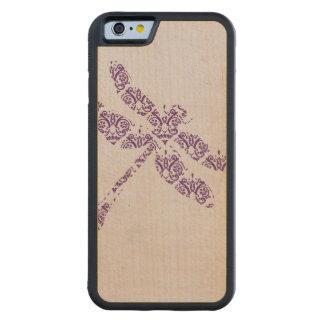 Boda púrpura de la libélula del damasco funda de iPhone 6 bumper arce