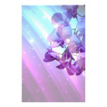 boda púrpura de la orquídea del encanto elegante r papeleria de diseño