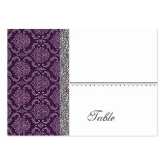 Boda púrpura del damasco fijado - tarjetas de visita grandes