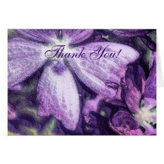 Boda púrpura del ejemplo de la flor tarjetas