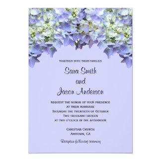 Boda púrpura del Hydrangea Invitacion Personalizada