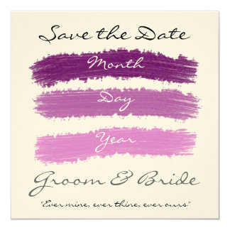 """Boda púrpura invitación 5.25"""" x 5.25"""""""
