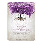Boda púrpura radiante del tarro de albañil invitación 12,7 x 17,8 cm