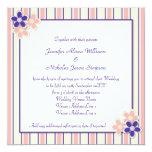 Boda púrpura y rosado del kitsch del país de la invitación 13,3 cm x 13,3cm