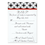 boda, r.s.v.p., rojo, negro, suposición, con anuncios personalizados