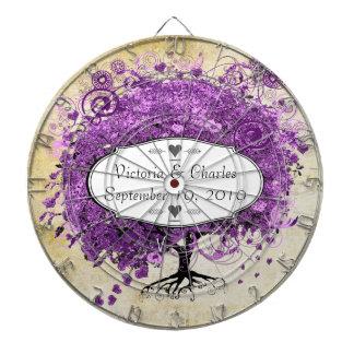 Boda radiante del árbol de la hoja de Purple Heart