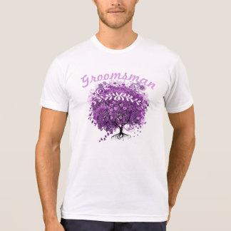 Boda radiante del árbol de la hoja de Purple Heart Camiseta
