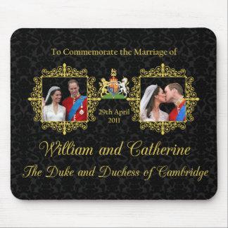 Boda real el duque y la duquesa de Cambridge Alfombrillas De Raton