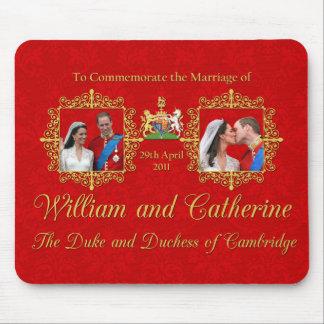 Boda real el duque y la duquesa de Cambridge Mouse Pad