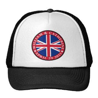 Boda real gorras