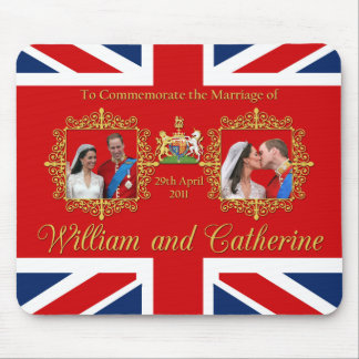 Boda real - Guillermo y Kate Union Jack Tapete De Ratones