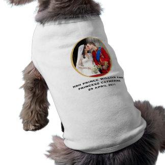 Boda real camisa de perro