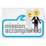 Boda realizada de la misión felicitacion