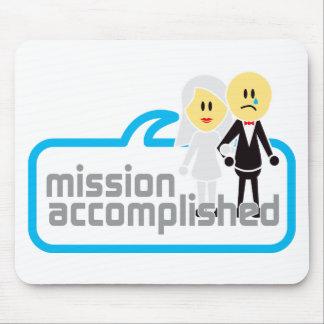 Boda realizada de la misión mouse pad