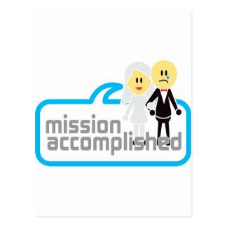 Boda realizada de la misión tarjetas postales