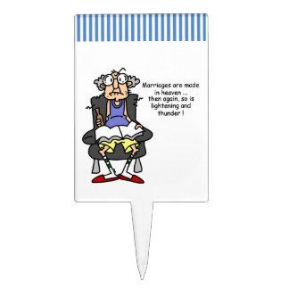 Boda, relámpago, humor del trueno figuras para tartas