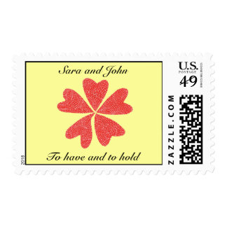 Boda rojo de la flor del Kat del karate Sello