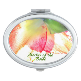 Boda rojo del extracto del Amaryllis del verde del Espejos De Maquillaje