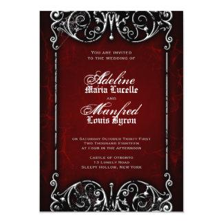Boda rojo del Victorian gótico, negro y blanco Comunicado Personal