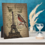 boda romántico de París de la torre Eiffel de las  Placa Para Mostrar
