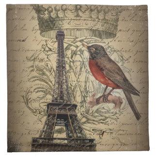 boda romántico de París de la torre Eiffel de las  Servilleta