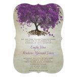 Boda romántico del árbol de la hoja de Purple Hear Anuncio Personalizado