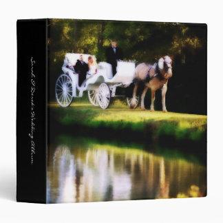 Boda romántico del caballo de carro