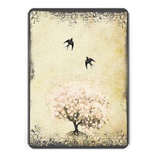 Boda romántico del pájaro del amor del árbol del r