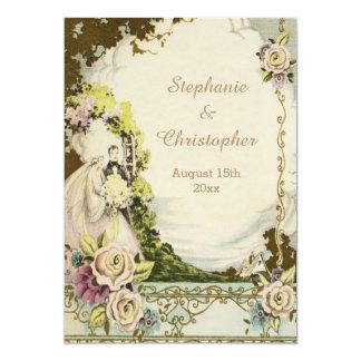 Boda romántico elegante de la novia y del novio invitación