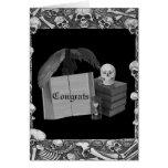 Boda romántico negro y blanco de Spellbook del crá Felicitaciones