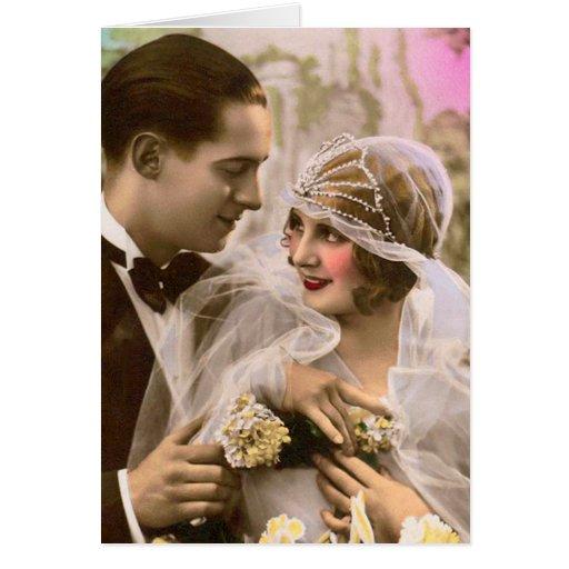 Boda romántico tarjeta de felicitación
