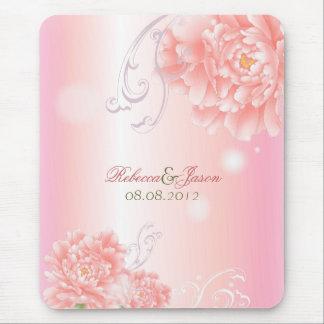 Boda rosado botánico del peony de la primavera alfombrillas de ratón