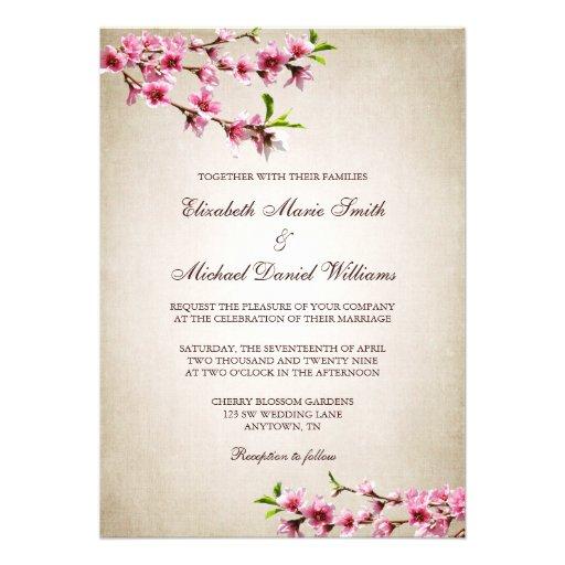 Boda rosado del moreno del vintage de las flores d anuncios