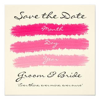 """Boda rosado invitación 5.25"""" x 5.25"""""""