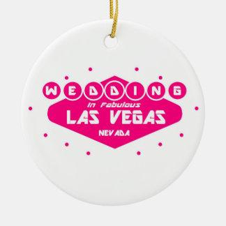 Boda ROSADO y BLANCO en Las Vegas fabuloso Ornamen Ornamentos Para Reyes Magos