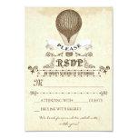 Boda RSVP con el globo romántico del aire caliente Invitación