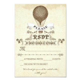 """Boda RSVP con el globo romántico del aire caliente Invitación 3.5"""" X 5"""""""