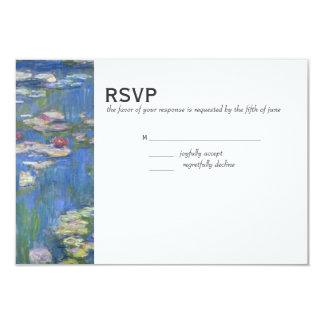"Boda RSVP //Monet Waterlilies Invitación 3.5"" X 5"""