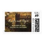 boda rústico de la cerca rural timbres postales