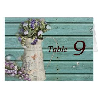 boda rústico de madera del granero floral del país tarjeta pequeña