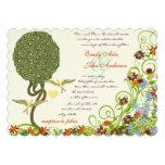 Boda rústico del árbol del pájaro del amor de Nouv Invitación