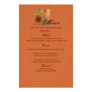 boda rústico del girasol del país de la cartulina papelería de diseño